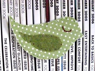 Hanging sage green birdy decoration
