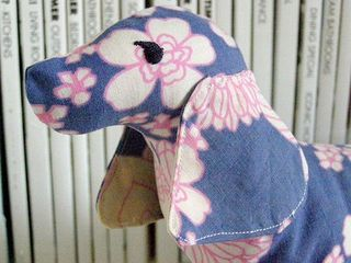 Vintage fabric dachshund