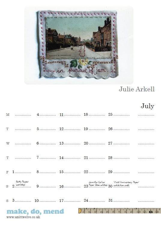 Unit Twelve calendar - Julie Arkell July