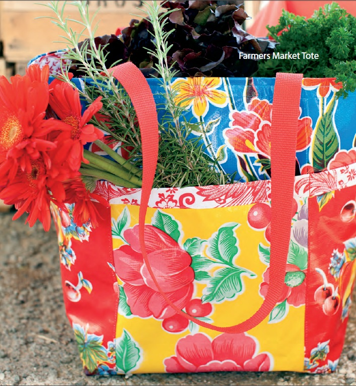 Farmer's Market Tote Bag free downloadable sewing pattern