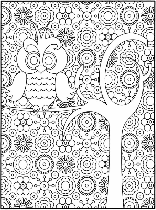 owl abstract coloring pages - photo#24