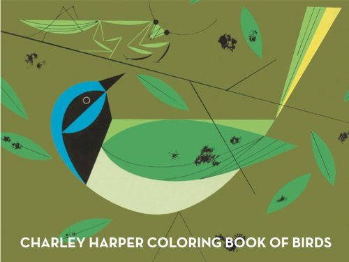 Charley Harper colouring book of birds and words